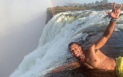 NFL Player, BRETT HUNDLEY, Visits Victoria Falls River Lodge